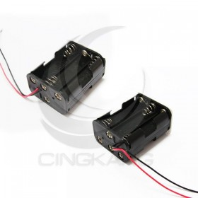 電池盒(帶線)雙面 6顆3號