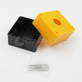 22mm 一孔開關盒 (黃色/白色) (CT-BOX1)