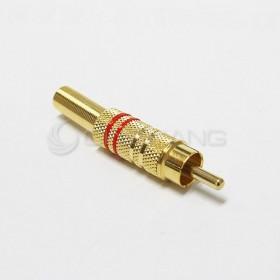 RCA 插頭 鍍金 線徑5-6MM (紅色)
