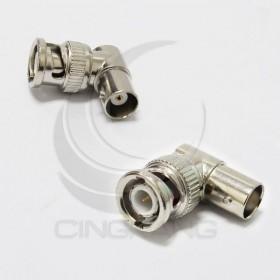BNC公頭-BNC母插座 90度