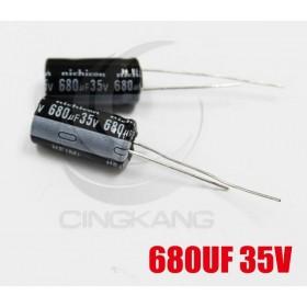 一般電容680UF 35V 10*20 (2顆入)
