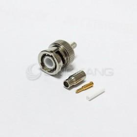 BNC公頭 夾式-RG174 3mm接頭