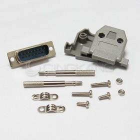 D型接頭保護蓋15P+ DB15公 (附長螺絲)