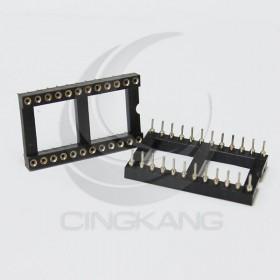 24PIN 寬形圓孔 IC座(5入)