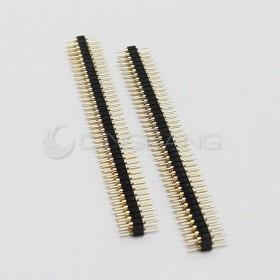 間距2.54mm 雙排圓針鍍金2*40P(2入)