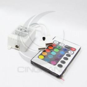 RGB 5050/5630 七彩24鍵 雙輸出 調光遙控器