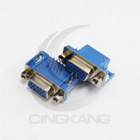 插板式 DR15母(三排) 15P 90度彎角 藍色(5個/入)