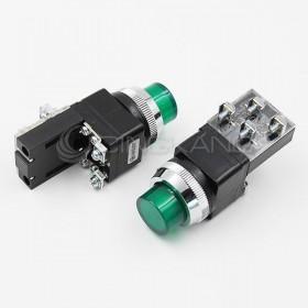 AP 凸頭照光式-綠(#30) 1A1B 220V