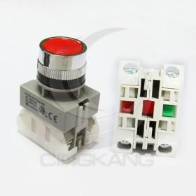 AP 平頭照光按鈕-紅(AP22) 1A1B不亮燈(和泉型)