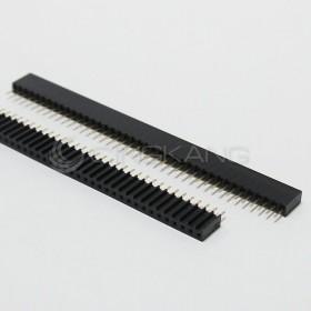 間距2.54mm 40P 單排波浪型母座 180° (2PCS/入)