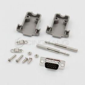 D型接頭保護蓋15P+DB15公 三排 (附長螺絲)