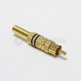 RCA 插頭 鍍金 線徑5-6MM (黑色)