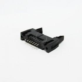 DC2-14P 間距2.54MM 直插牛角座(2入)