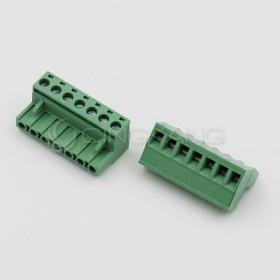 彎針接線端子2EDGK-7P/5.08MM/300V15A 母座 (2入)