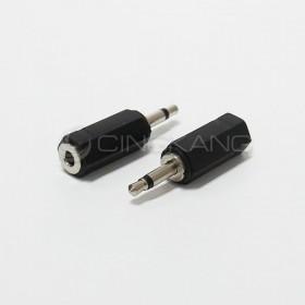 3.5單音插頭對3.5立體插座(鍍鎳)