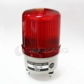 24V LED旋轉型警示燈(端子台)100MM 紅色