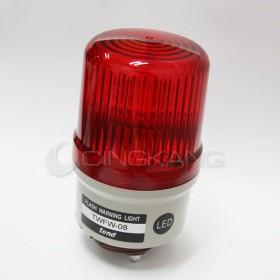 24V LED閃光型警示燈(出線式)80MM   紅色