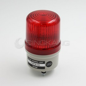 天得 LED閃光型警示燈+蜂鳴器(端子台)80MM 紅色 24V