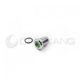 防水不鏽鋼金屬平面指示燈DC24V-綠色(焊線式) S12041-24G 12mm