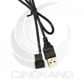 USB轉2PIN風扇線 長度50CM
