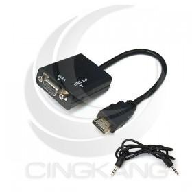HDMI轉VGA母 (含音源輸出轉換線)