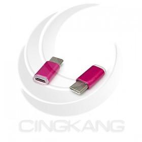 炫彩3.1 Type-C公-USB2.0 MicroB母轉接頭