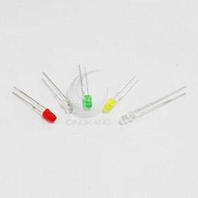 LED燈珠3mm-紅黃綠白發白白發藍 (5種10入)