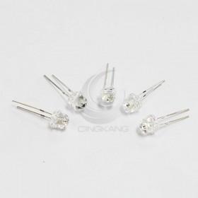 LED燈珠5mm-白色發紅光 草帽(10入)