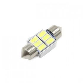 5730白光 雙尖頭含散熱片 31mm LED 6晶 DC12V