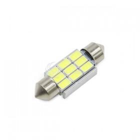 5730白光 雙尖頭含散熱片 39mm LED 9晶 DC12V