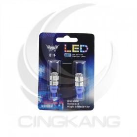 T10 5050 9燈LED 藍光 DC12V (2PCS/卡)