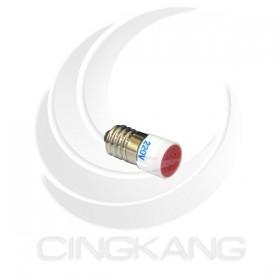 E10 高亮度 多點式 LED 220V 紅色 2芯 螺旋式