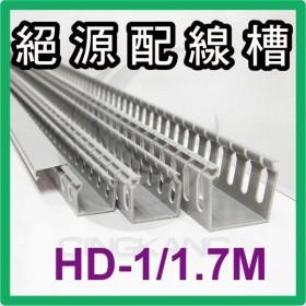 【不可超取】0101絕源配線槽 HD-1 (灰色) 25*45mm 1.7M (出線孔4MM)