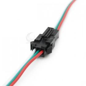 SM2.5-3P 對插連接線 24AWG 總長30cm 一組(公VS母)