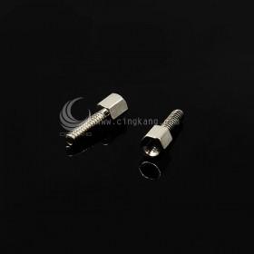 D型接頭用 六角鍍鎳銅柱1公1母 5+10 (10PC/包)