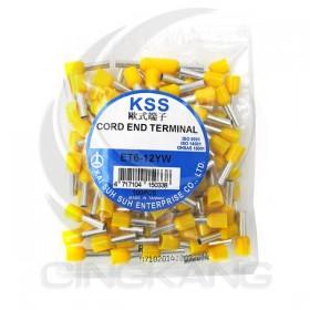 歐式端子 ET6-12YW (黃色)(100PCS/入)