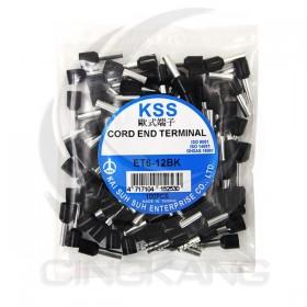 歐式端子 ET6-12BK (黑色)(100PCS/入)
