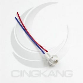 T10 橡膠燈座 (白)