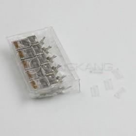 Asiawire Cat6A 8P8C二件式(遮蔽大孔徑)Plug (5PCS/入)