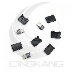 USB塑膠三件式 MICRO 公接頭(5PCS/入)