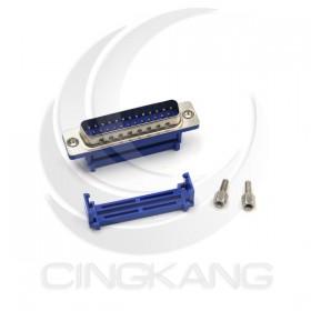 D型接頭 壓排式 IDC-25P公 25P 附螺絲 (5個/入)