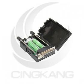 免焊接頭 RS232接頭 DB15二排母 轉接 綠色端子台