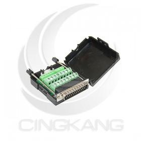 免焊接頭 RS232接頭 DB25公 轉接 綠色端子台