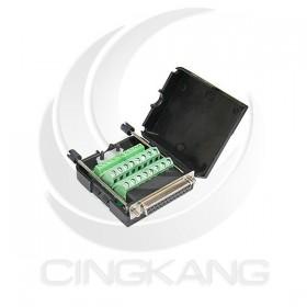 免焊接頭 RS232接頭 DB25母 轉接 綠色端子台