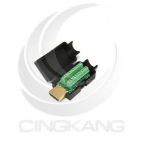 免焊接頭 HDMI接頭公 轉接 綠色端子台