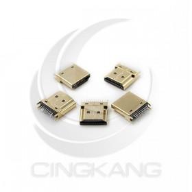HDMI 公頭(鍍金) DIP 180度腳位 (5PCS/包)