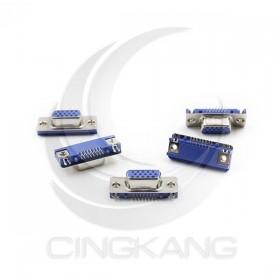 插板式 DB15P母(三排) 15P 沉板式 藍色(5個/入)