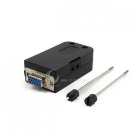 免焊接頭 VGA 接頭 DB15母(三排) 轉接 綠色端子台