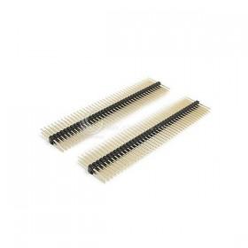 間距2.54mm 40P 鍍金雙排 雙邊等長 10mm (2入)
