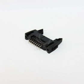 DC2-16P 間距2.54MM 直插牛角座(2入)